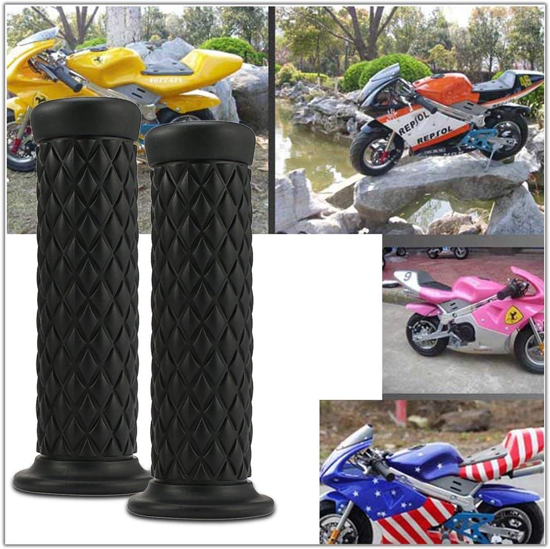 Funnyrunstore 1 Paire 22mm Poign/ées de Moto Universelles Poign/ées Antid/érapantes en Caoutchouc Sport Poign/ées en Main Barre de Fin Moto Bike Racer Cafe noir