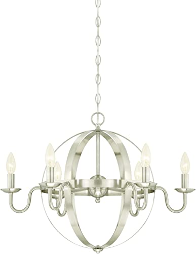 Westinghouse Lighting 6303100 Brixton Six-Light Indoor Chandelier