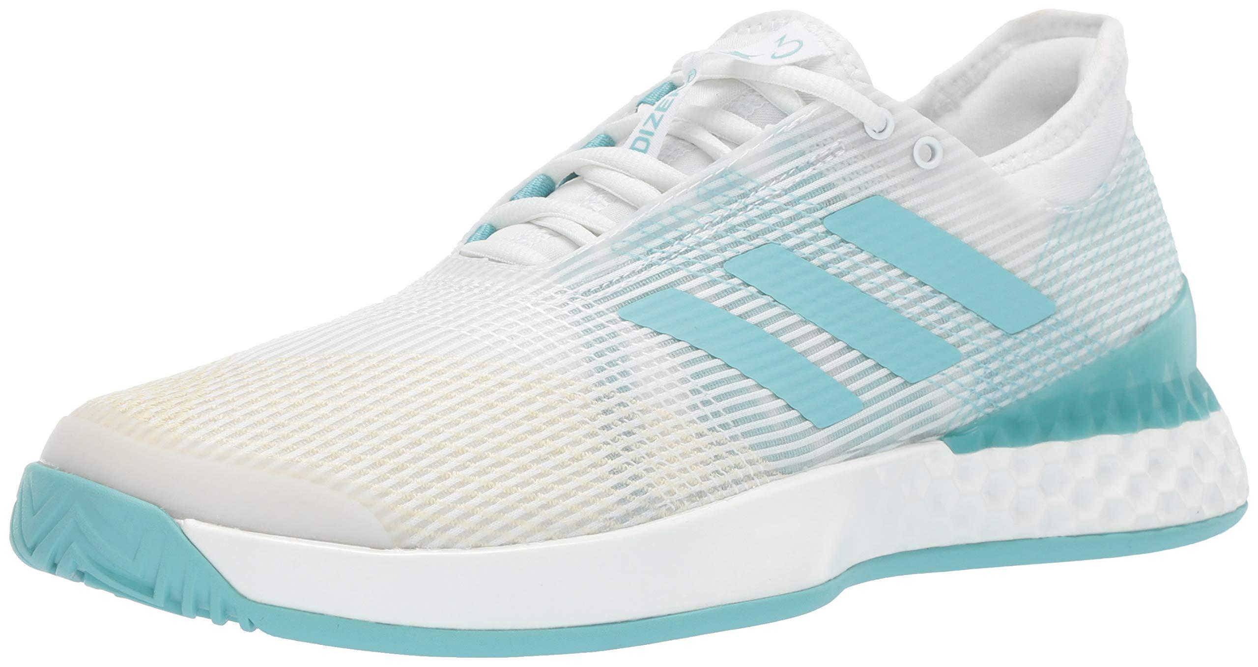 adidas Men's Adizero Ubersonic 3, Blue Spirit/White, 6.5 M US