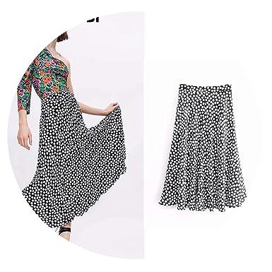 2019 Summer Skirts Women dot Print a-line Ankle-Length Women ...
