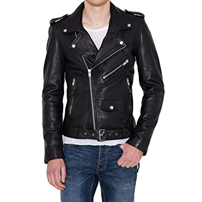 Laverapelle Men's Genuine Lambskin Leather Jacket (Black, Extra Large, Polyester Lining) - 1501398 at Men's Clothing store