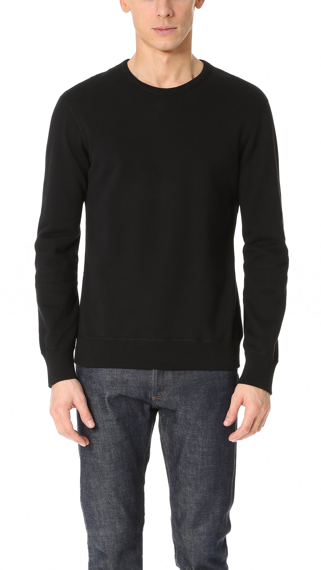 Reigning Champ Men's Mid Weight Terry Sweatshirt, Black, X-Large