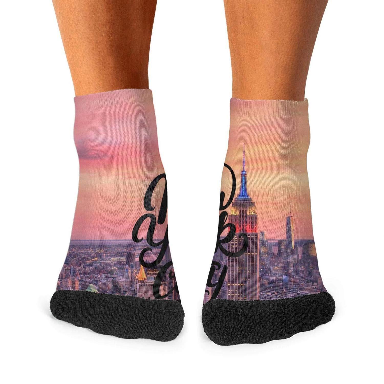 Floowyerion Mens New York City Life Retro Art Novelty Sports Socks Crazy Funny Crew Tube Socks