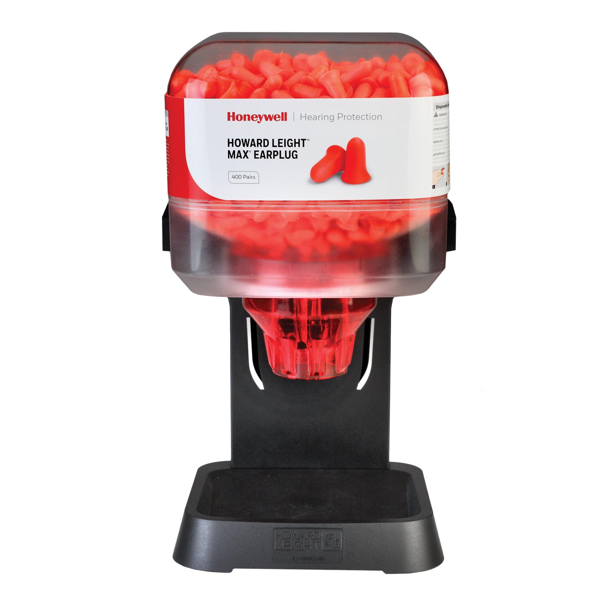 Howard Leight HL400 Earplug Dispenser with 400 Pairs of MAX Earplugs