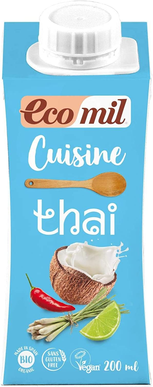 Thai (nata de coco), sin glúten, sin azúcar añadido, 200 ml: Amazon.es: Alimentación y bebidas