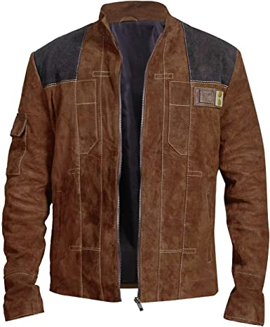Mens Star Space Solitary Warrior Cosplay Costume Leather Jacket Collection Brown/Black