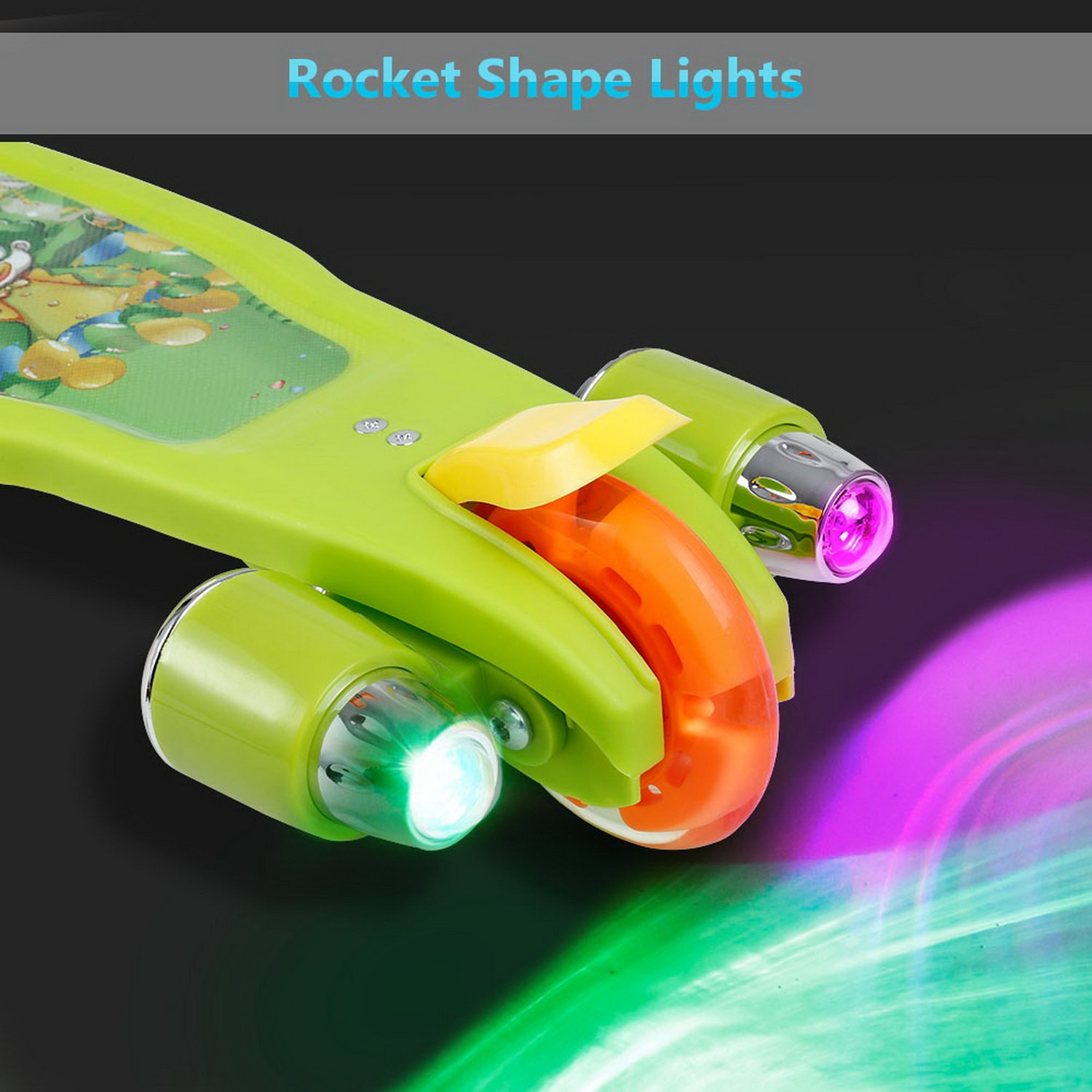 Amazon.com : Jaketen Kick Scooter 3 Wheels with LED Flashing and Music Push Scooter for Kids Gift (Blue) : Sports & Outdoors