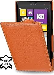 StilGut, UltraSlim, pochette exclusive de cuir véritable pour le Nokia Lumia 1020, orange