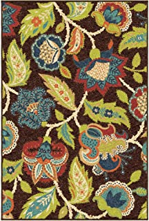 "product image for Orian Rugs Veranda Indoor/Outdoor Ethridge Area Rug, 6'5"" x 9'8"", Brown"