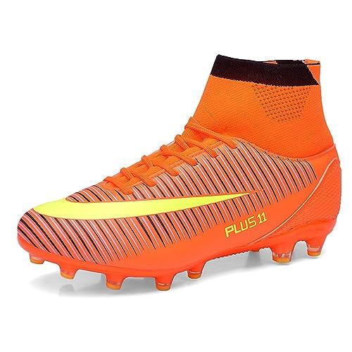 32890265e WOWEI Zapatos de Fútbol Spike Aire Libre Profesionales Atletismo Training  Botas de Fútbol Adolescentes Adultos Zapatos de Deporte  Amazon.es  Zapatos  y ...