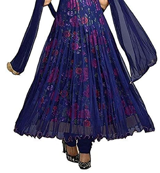 0d59f48412d Drashti Villa Women s Bangalory Silk Printed and Net Anarkali Gown (Free  size)  Amazon.in  Clothing   Accessories