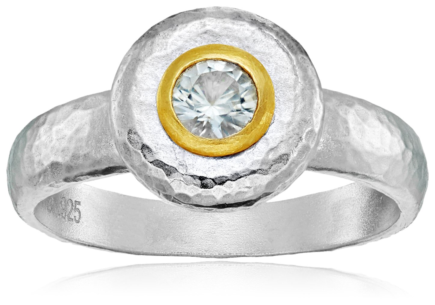 GURHAN ''Droplet'' Sterling Silver White Sapphire Ring, Size 7