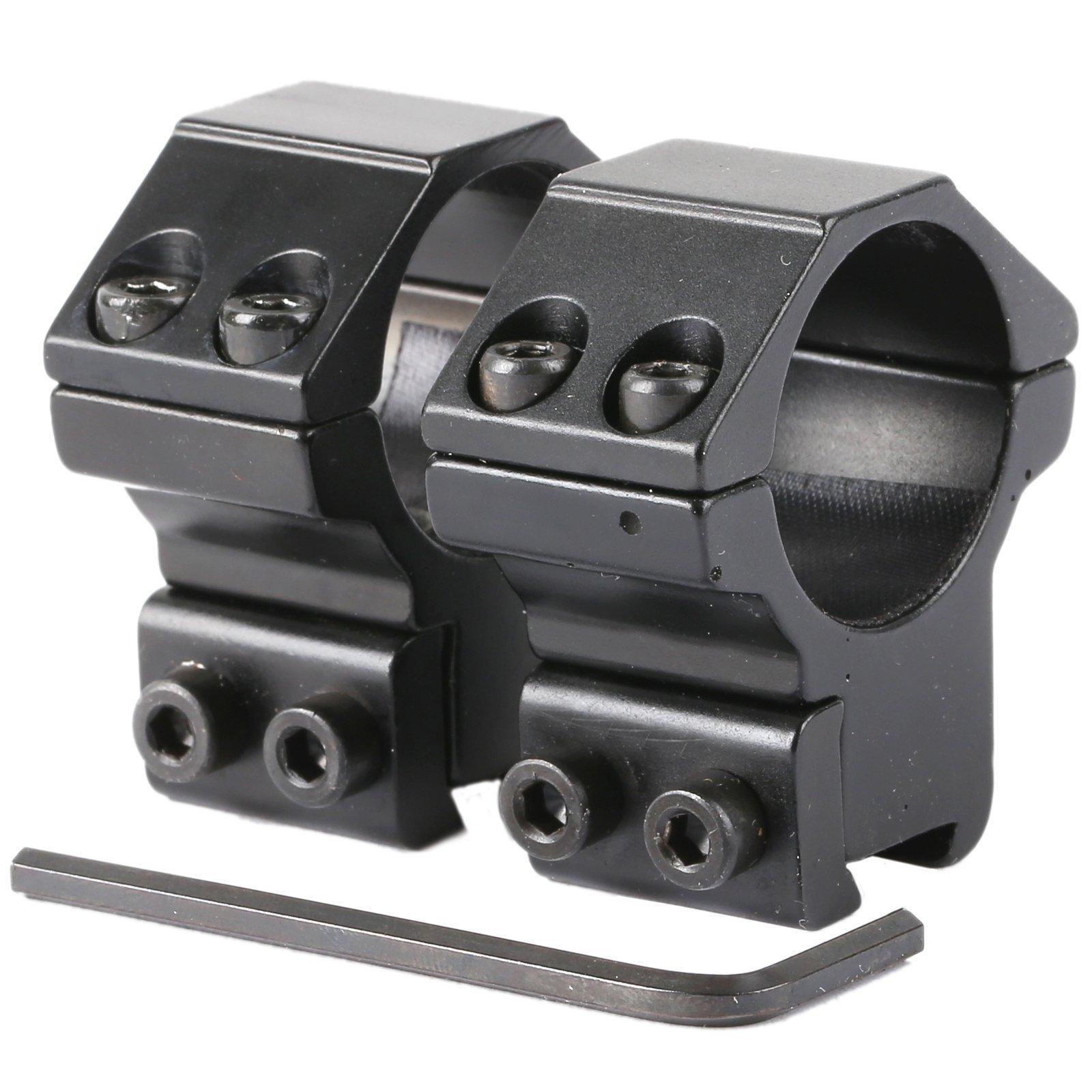 "Dophee 2Pcs Medium Profile 25.4mm/1"" Scope Rings Rifle 11mm Dovetail Weaver Rail Mount"