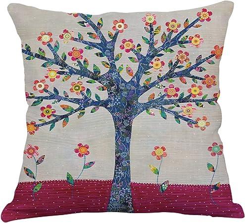 Imagen dePintura De árbol Funda De Almohada Ropa Coche Sofá Oficina Sala De Estar Cojín (Fundas De Cojín Set De 2 Piezas),I