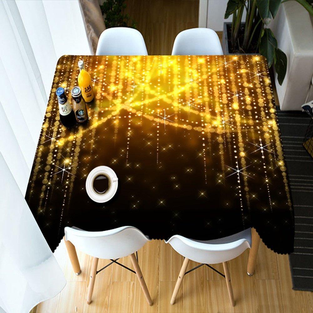 HUANZI Polyester Staub Tischdecke Rechteckige Tischdecke 3D Gold Flash Flash Flash Digital Print Party Tischdecke, Rectangle - Wide 152cmx Long 259cm 8b2da1