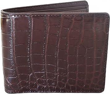 New Black Genuine Leather Crocodile Alligator Belly Skin Men/'s Bi-fold Wallet