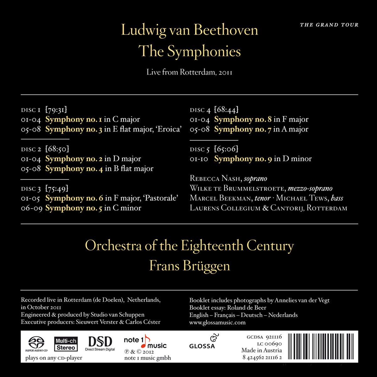 beethoven the symphonies live in rotterdam 2011 amazon co uk beethoven the symphonies live in rotterdam 2011 amazon co uk music