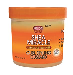 African Pride Shea Butter Miracle Moisture Intense Curl Styling Custard 12 oz (Pack of 3)