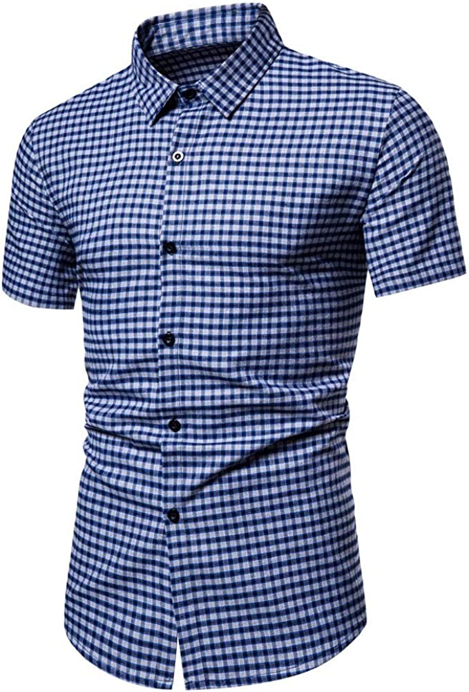 Herrenhemd Hemden Solid Einfarbig Übergröße Business Shirt Top Oberteile