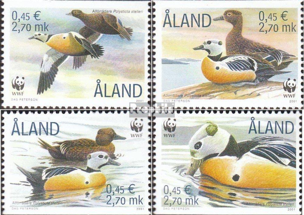 kompl.Ausg. Aland 183-186 Prophila Collection Finnland V/ögel Briefmarken f/ür Sammler 2001 Scheckente