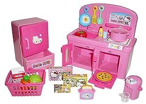 Hello Kitty Kitchen Play Set Miniature Toy Preschool Girl Role Play
