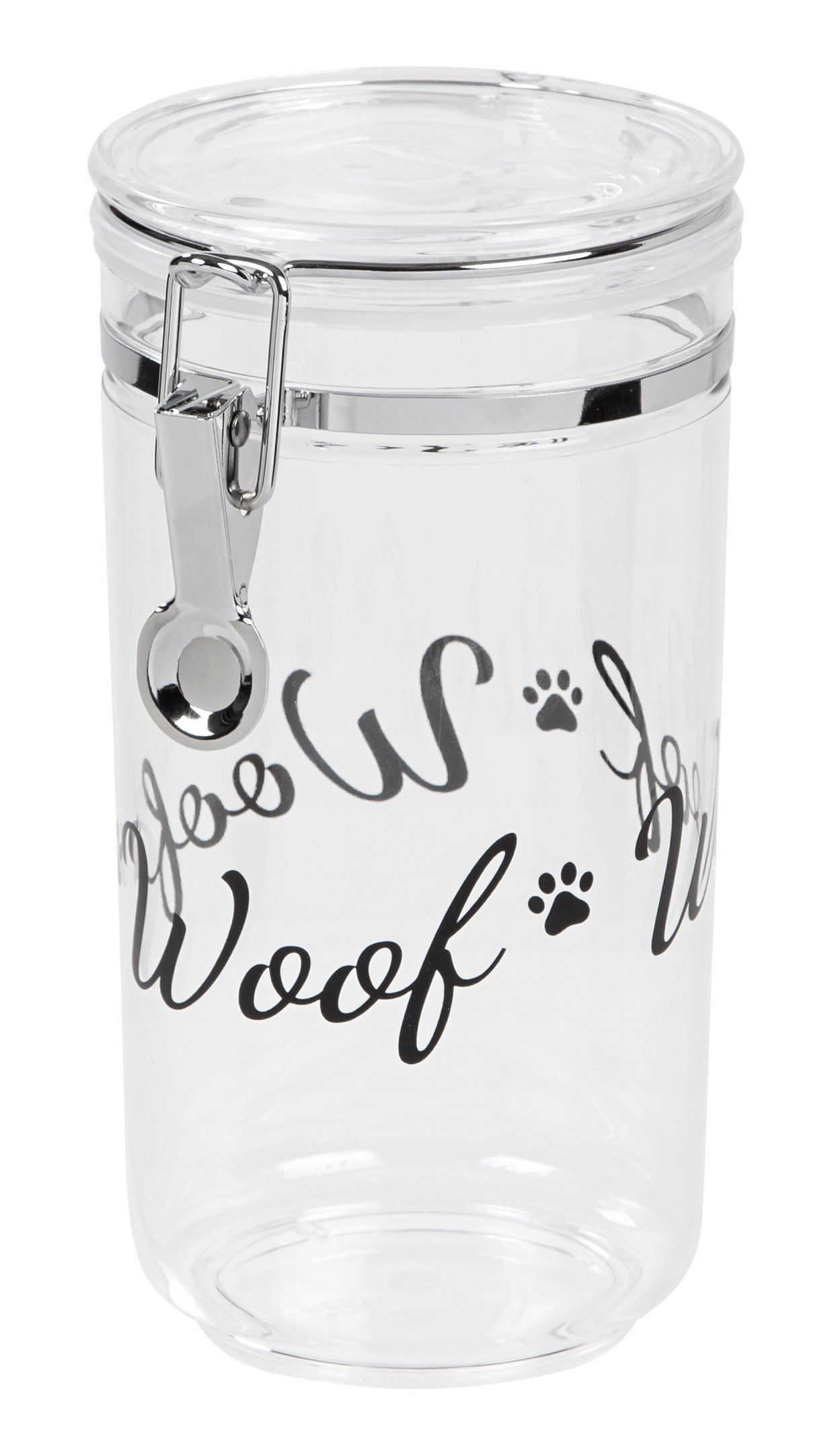 IRIS Acrylic Meow treat Jar Black Woof