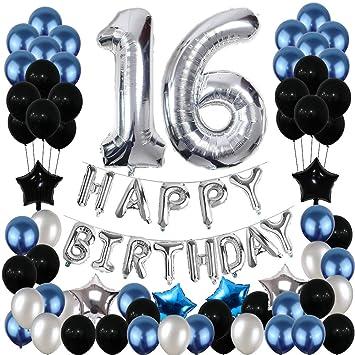 Amazon.com: Decoración de cumpleaños 16, Yoart 16 cumpleaños ...