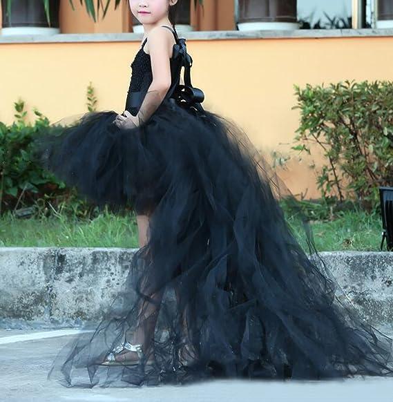 Steampunk Kids Costumes | Girl, Boy, Baby, Toddler Flxdress Black Hi-Low Flower Girl Dress Tulle Catwalk Kids Tutu Ball $64.99 AT vintagedancer.com