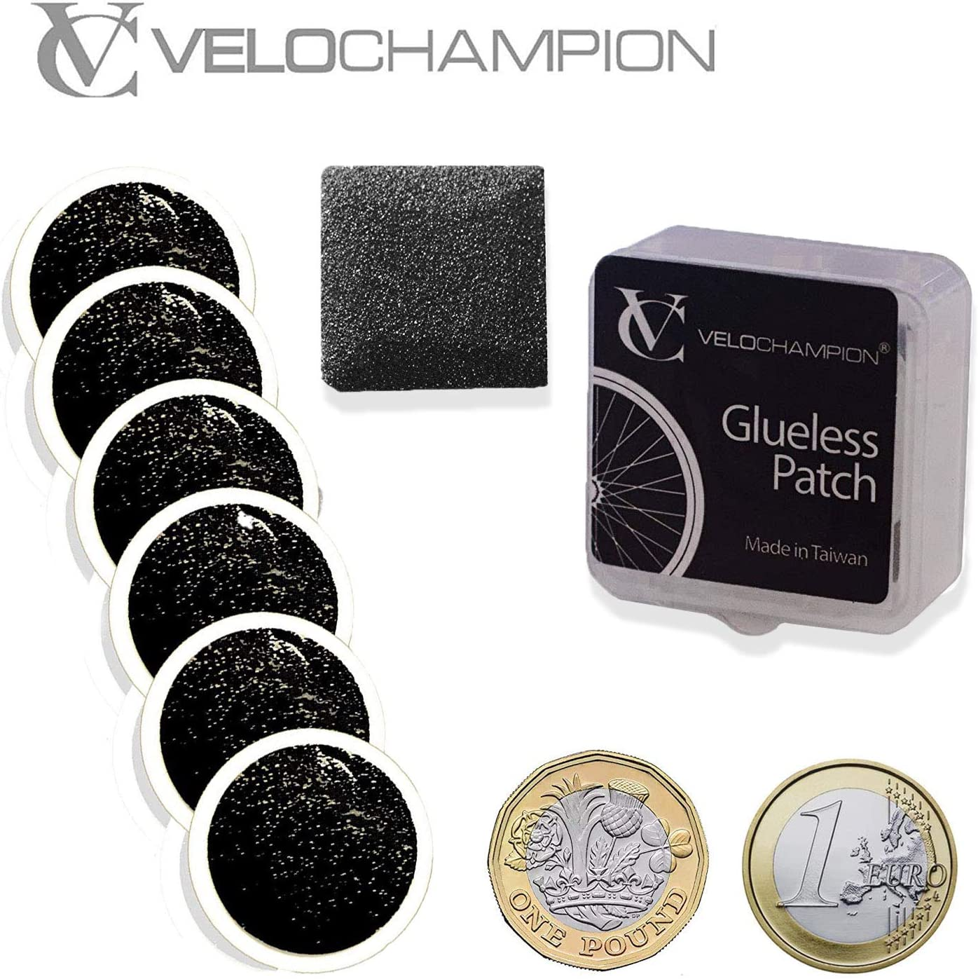 VeloChampion Puncture Repair Patches Autoadhesivo Pack de 6 ...