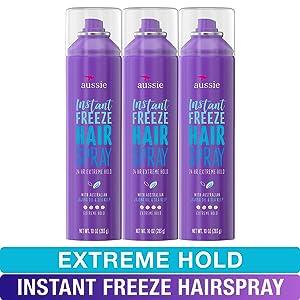 Aussie, Hairspray, with Jojoba & Sea Kelp, Strong Hold, 10 fl oz, Triple Pack
