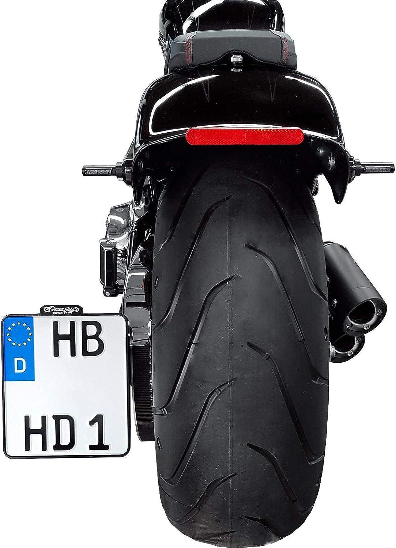 HeinzBikes Motorrad-Kennzeichenhalter seitlicher Kennzeichenhalter D 180mm HBSKZ-FL18 schwarz