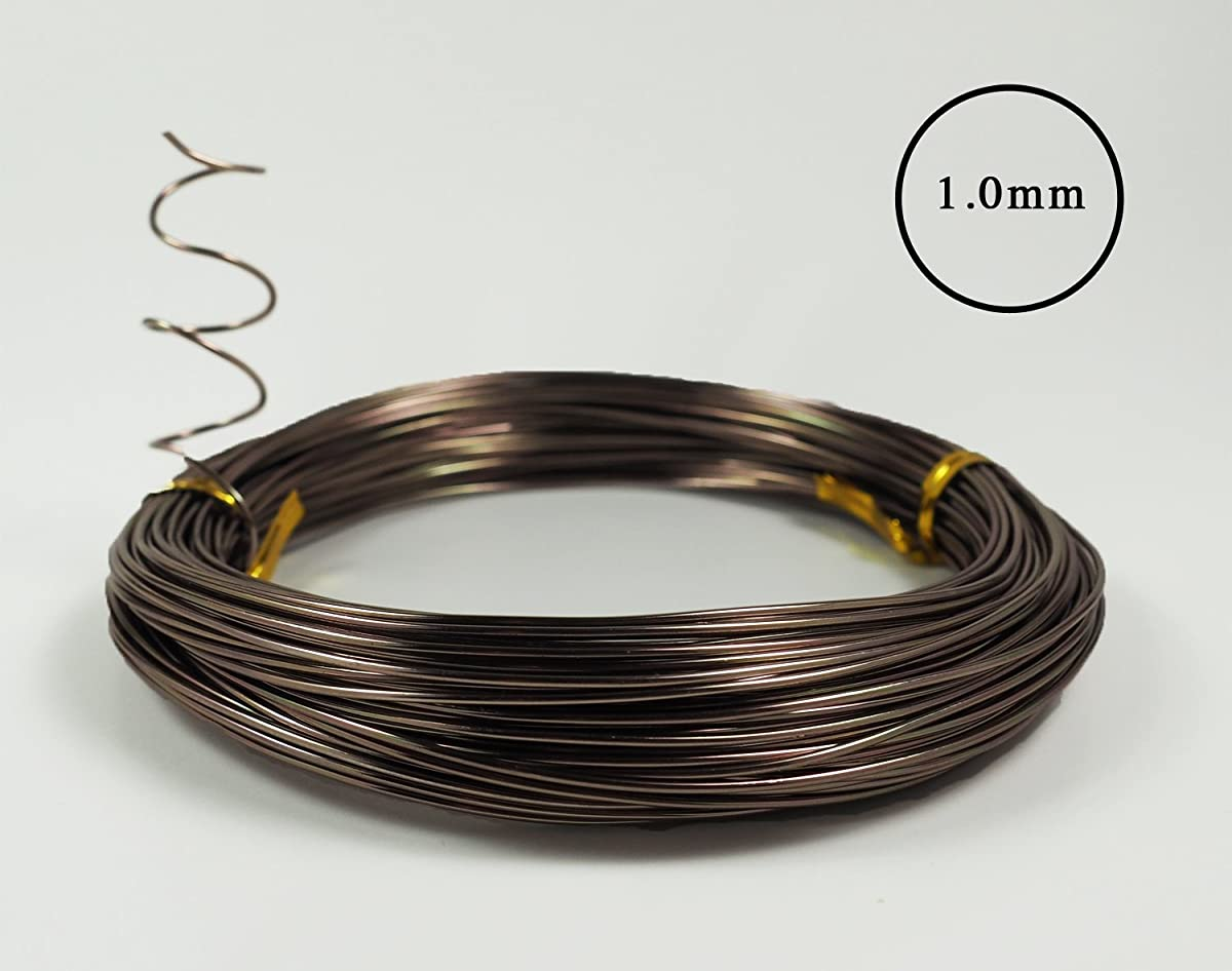 Anodized Aluminum Bonsai Training Wire 5-Size Starter Set - 1.0mm, 1.5mm, 2.0mm, 2.5mm, 3.0mm (147 feet Total) - Choose Your Color (5 Sizes, Brown)