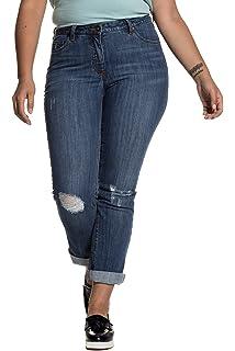 4a11330e15d1f Studio Untold Women s Plus Size Stretch Straight Leg Destroy Effects Jeans  713405