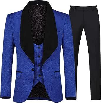 Amazon.com: YFFUSHI - Chaleco y pantalón para hombre de 3 ...