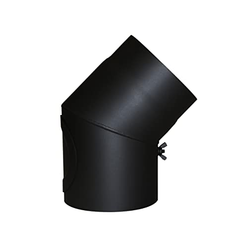 Kamino - Flam – Codo con válvula para chimenea de leña, Codo para estufa de