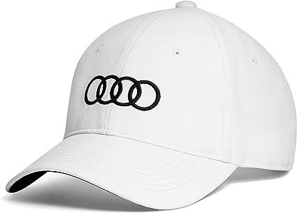Audi - Gorra de béisbol Unisex, Color Blanco: Amazon.es: Coche y moto