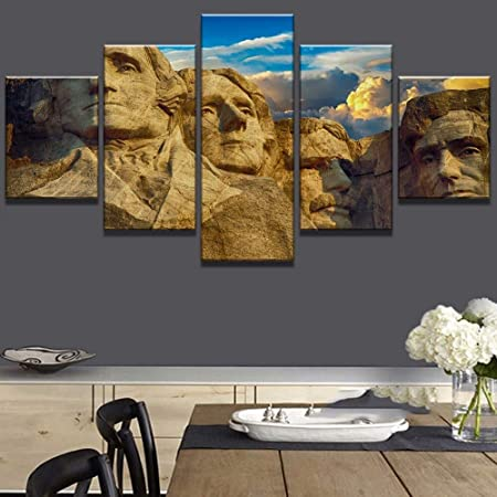 mmwin 5 Piezas HD Print Mount Rushmore Poster Cuadros ...