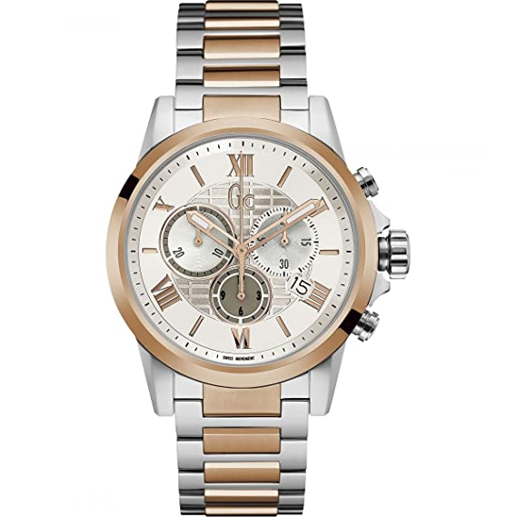 GC GC ESQUIRE RELOJ DE HOMBRE CUARZO 42MM CORREA DE ACERO DOBLE TONO Y08008G1: Amazon.es: Relojes