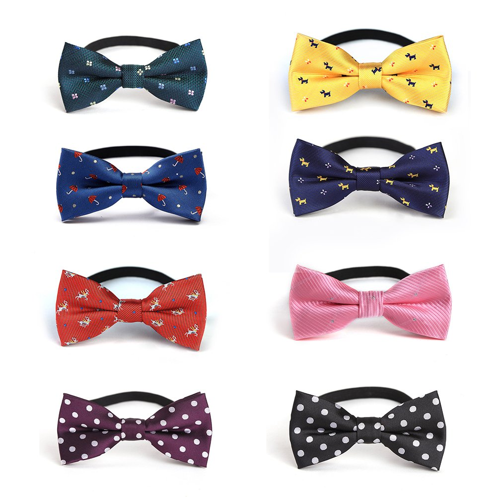 JIMUKEE Baby Boys Kids Pre-tied Bow Tie With Adjustable Neck Strap Toddler Bowtie Value Pack B