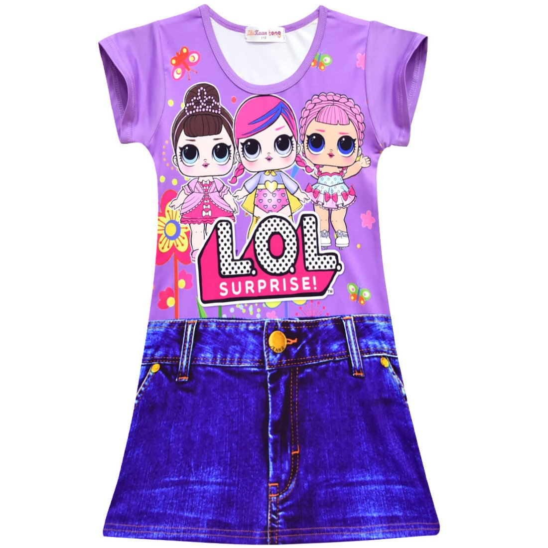 NekoBaby Girl's Nightgown Printed Cute Night Dresses for Halloween Birthday Party Costumes