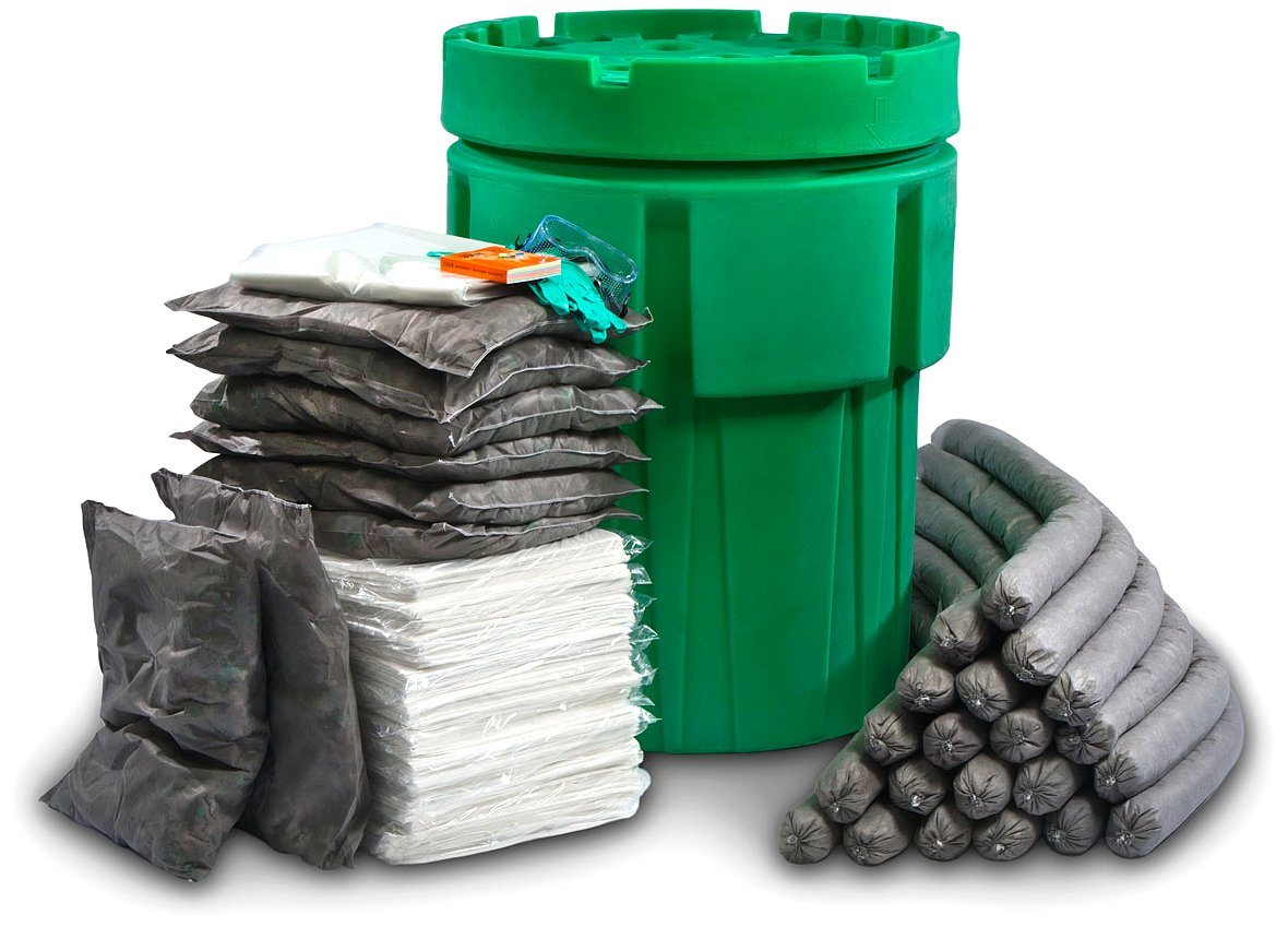 ESP SK-U95 174 Piece Ecofriendly Universal Overpack Absorbent 95 Gallon Spill Kit, 100 Gallon Absorbency, Gray
