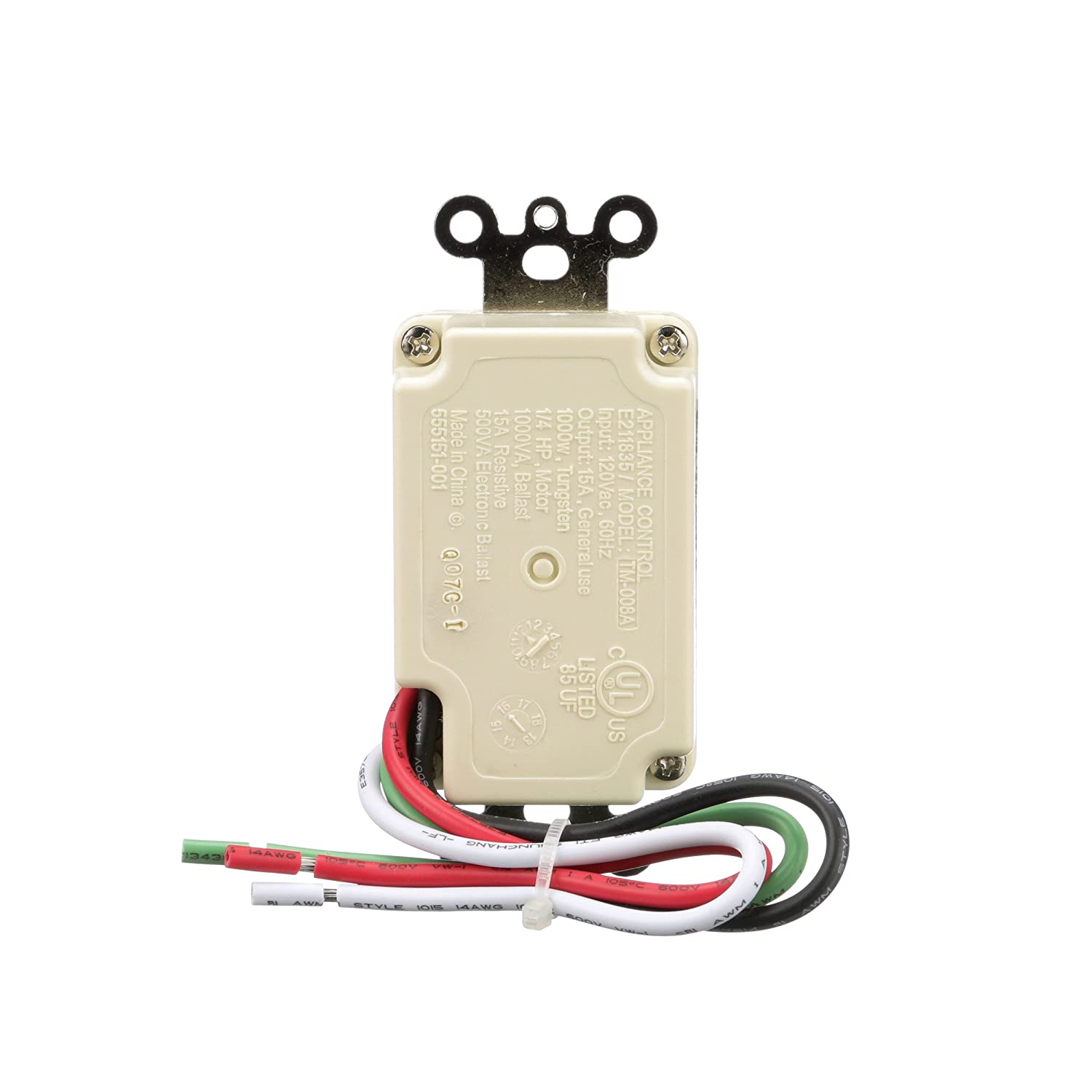 Woods 59720wd In Wall 30 Minute Digital Countdown Timer Light Wiring The Home Replacing Switch With Gfci Combo Almond Bath Fan