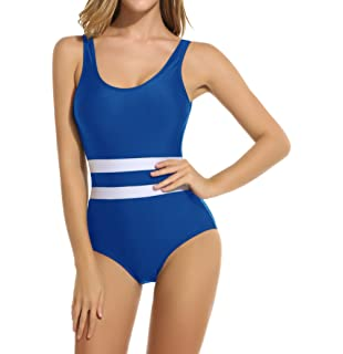 d4337c07d4d Dokotoo Womens Stripes Color Block One Piece Bathing Suit Swimsuit ...