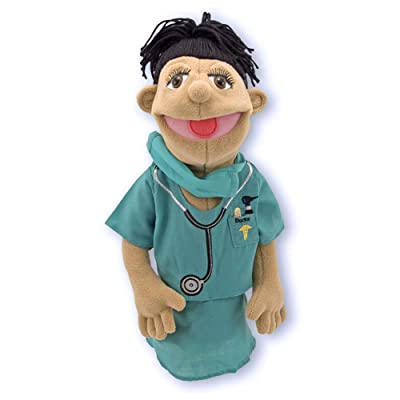 Melissa & Doug Surgeon Puppet With Doctor Scrubs and Detachable Wooden Rod (Puppets & Puppet Theaters, Great Gift for Girls and Boys - Best for 3, 4, 5 Year Olds and Up): Melissa & Doug: Toys & Games