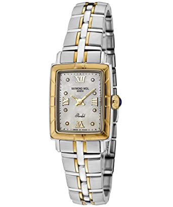 Amazon Com Raymond Weil Women S 9740 Stg 00995 Parsifal Diamond