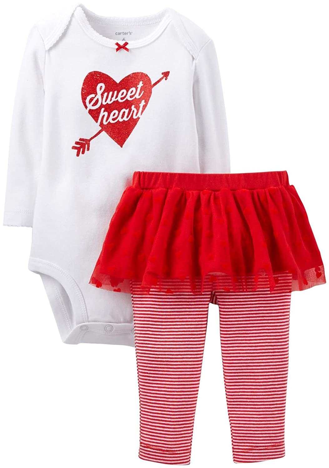 Carter's 2 Piece Valentine's Tutu Set (Baby) Sweetheart