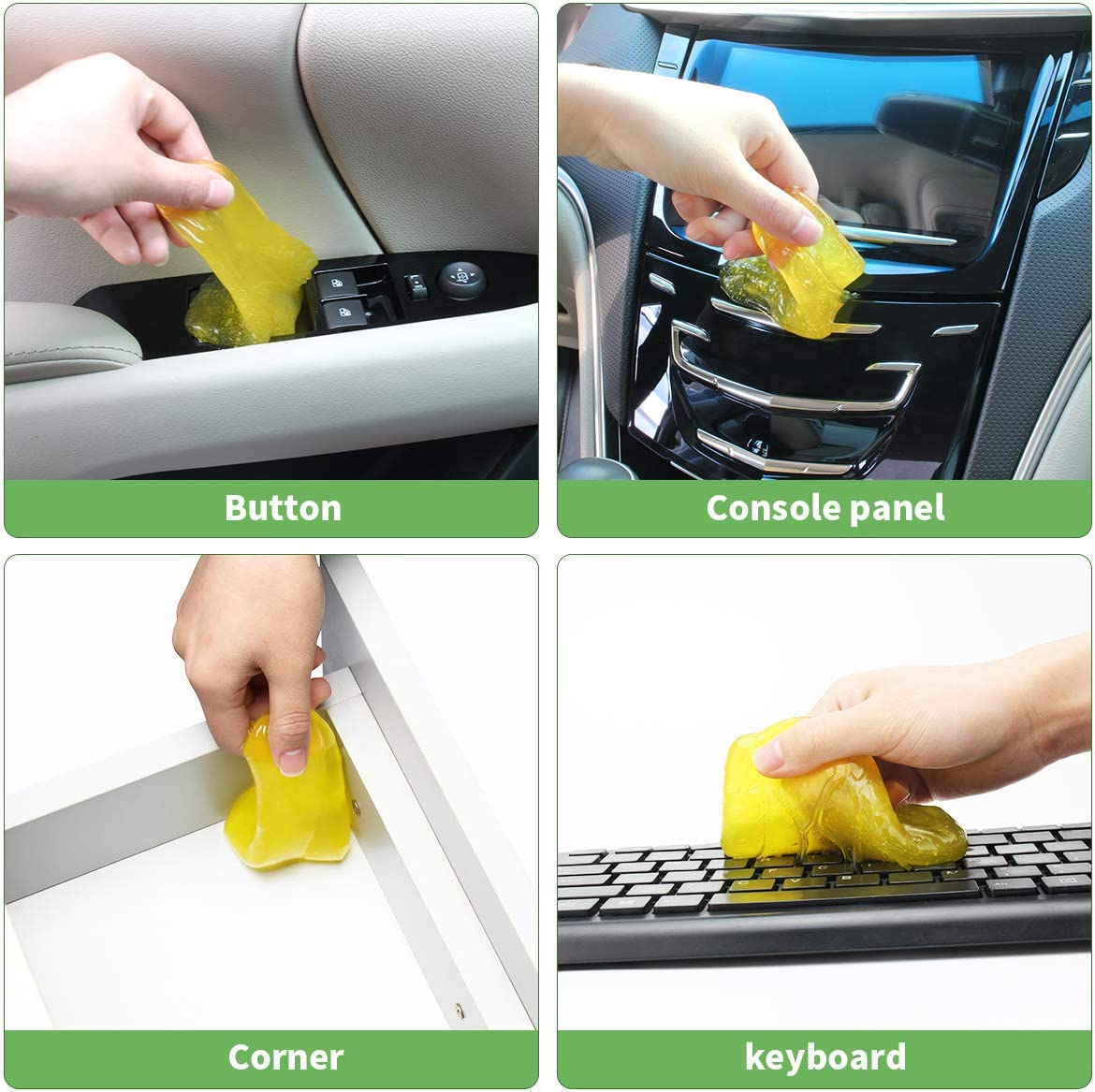 Air Vents -280g Cameras Apple or Lemon or Grape or Blueberries Cheers 4-Pack Car Interior Detailing Cleaner Universal Dust Cleaning Gel for PC Tablet Laptop Keyboards