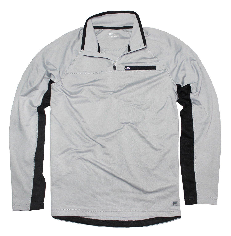Fila Men's Light Weight 1/4 Zip Pullover, Grey, X-Large by Fila