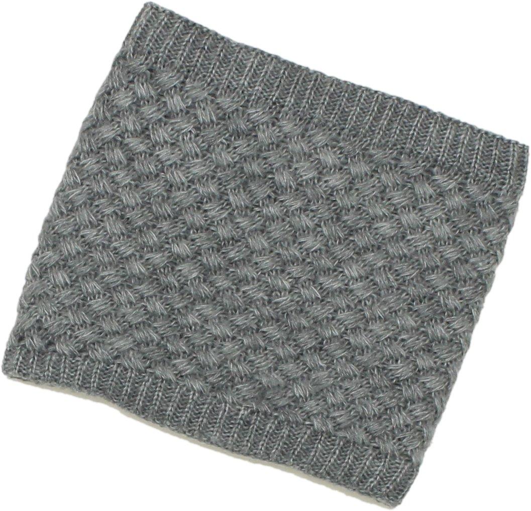 ZUZIFY Sweater Knit Furry Fleece Lined Neck Gaiter. ZUZ0009 OS Grey