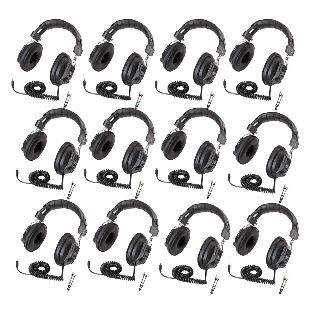 Califone 3068AV Switchable Stereo/Mono Headphones 12-Pack Bundle by Califone